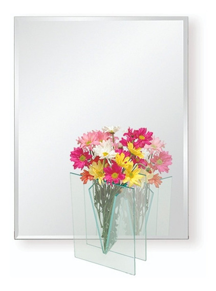 Espejo Wall 6 Reflejar Baño Biselado 80x60 Sin Interes
