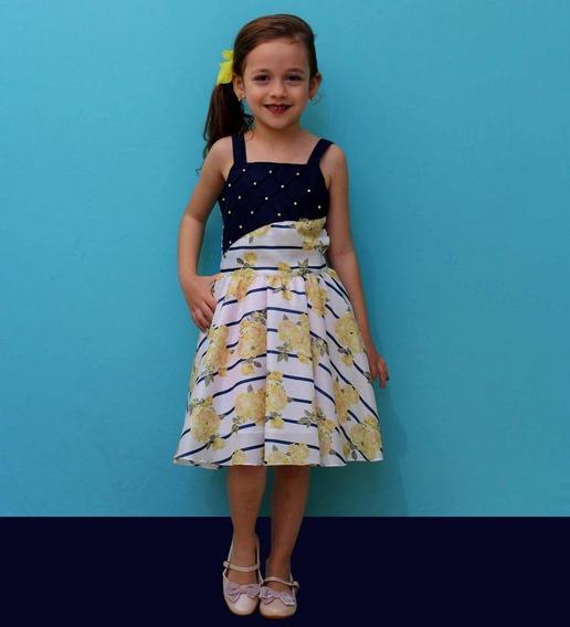 Vestido De Festa Infantil Juvenil Floral Formatura