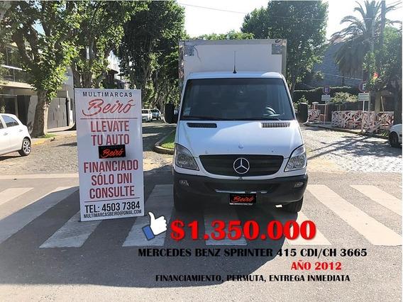 Mercedes Benz Sprinter 415 Cdi/ch 3665 Año 2012