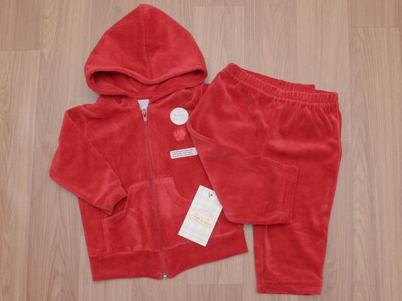 Conjunto Casaco E Calça Plush Piu Piu Vermelho