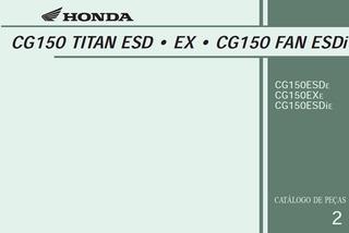 Catalogo De Peças - Honda Cg Fan Titan Esdi Ex - 2014 Em Pdf