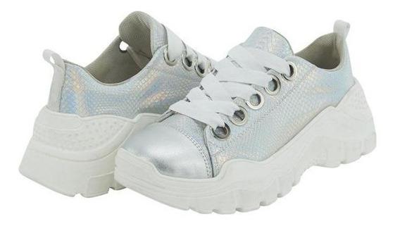 Tenis Con Plataforma Tipo Sneakers Para Dama 020873