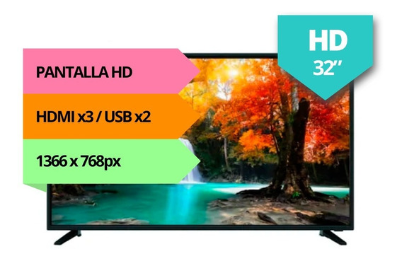 Tv Led 32 Bixler Hd Hdmi Usb Bx-32hd Garantia Full