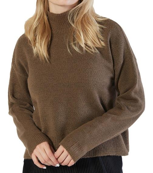 Sweater Cuello Alto Hilado Frisado Mujer Mistral 44091