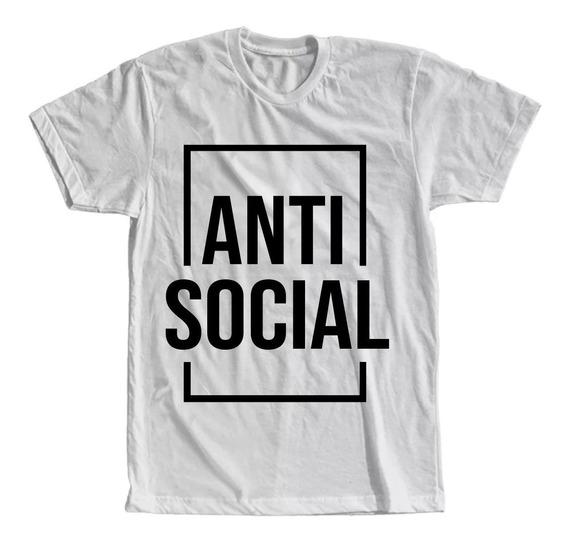 Camiseta Anti Social Masculina Feminina