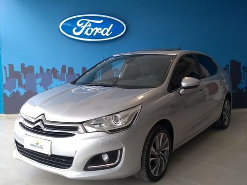 Citroën C4 Lounge 1.6 Thp Exclusive 2017 Prata Flex