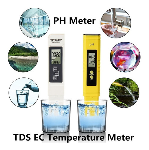 Ph Tds Ec  c  f Pehachimetro Y Conductímetro