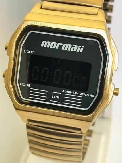 Lindo Relógio Mormaii Feminino Dourado Digital Mojh02au/4d