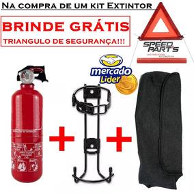 Extintor Automotivo / Veicular 3,5 + Suporte + Capa + Brinde