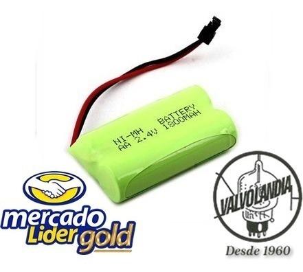 Bateria 2,4v 1800mah Aa Ni-mh Com Plug Universal