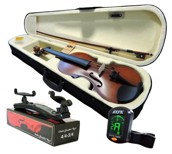 Kit Violino Barth Old 4/4 C/ Case+ Espaleira+ Afinador Cr