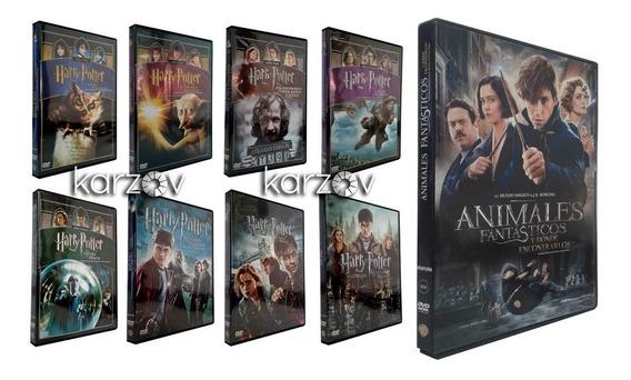 Harry Potter 1 - 8 + Animales Fantasticos Peliculas Dvd