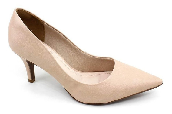 Sapato Scarpin Feminino Bebecê 7060-104 Nude