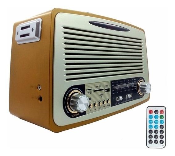Radio Com Bluetooth Controle Remoto Usb Sd Am Fm Recarrega
