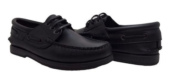 Zapato Nautico Kraim Cuero Cocido Suela Goma Ng