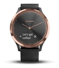 Relógio Garmin Vívomove Hr Sport Hybrid Smartwatch Novo