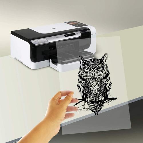 Imagen 1 de 4 de Acetato Inyección De Tinta Inkjet Película Transparente 10pz