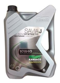 Aceite Lubri. 10w40 Savia J Kansaco Semisintetico Caja 4x4 L