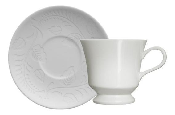 Xícara Para Café Em Porcelana Germer Folk Branca