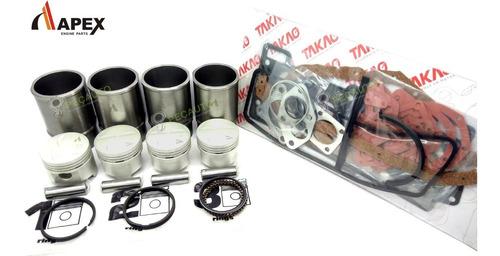 Imagem 1 de 2 de Kit Motor Pistão Aneis Camisas Juntas Alcool Vw Gol 1.6 Cht