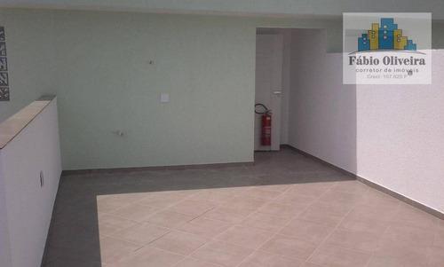 Imagem 1 de 10 de Cobertura Com Acesso Externo ,com 2 Dormitórios À Venda, 42 M² Por R$ 235.000 - Jardim Do Estádio - Santo André/sp - Co0152