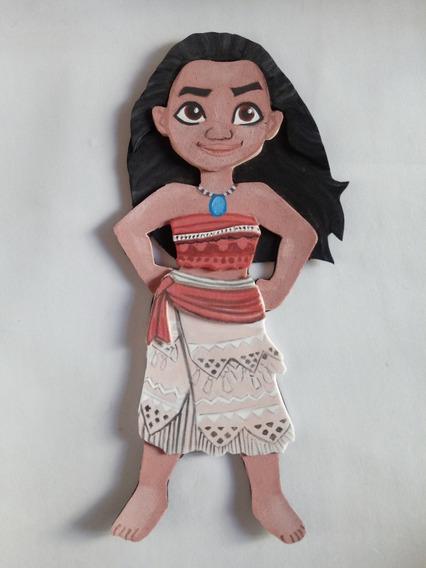Moana - Decoración De Cumpleaños - Figuras En Goma Eva