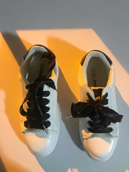 Zapatillas Mujer Imitación Superstar Ecocuero