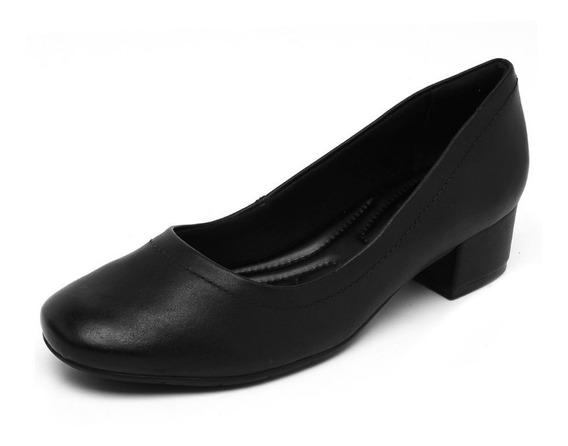 Comfortflex Sapato Preto Opaco.