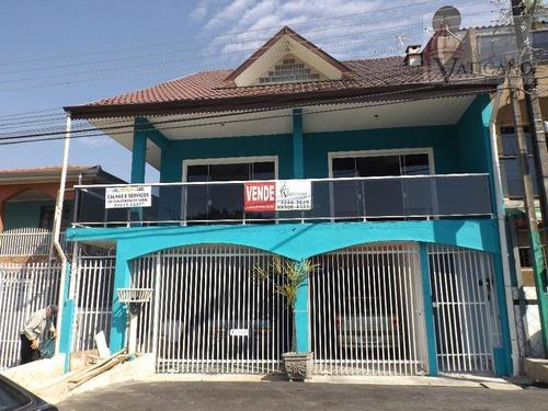 Sobrado Com 3 Dormitórios À Venda, 521 M² Por R$ 850.000,00 - Cidade Industrial - Curitiba/pr - So0083