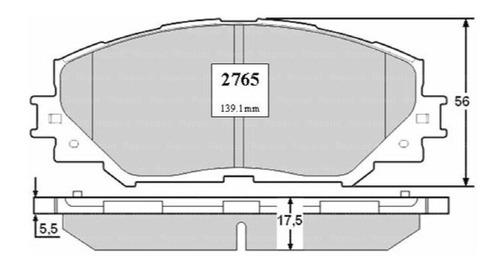 Pastillas Freno Toyota Auris 1.6 2013 Dohc 1zrfe Zre151