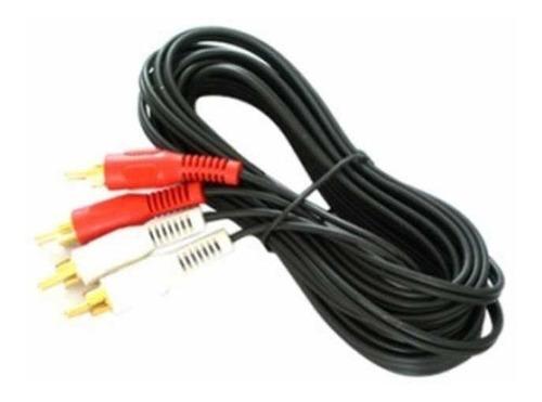 Pack 3x Cable Audio 2 Rca Macho Macho 1.8m Dracma