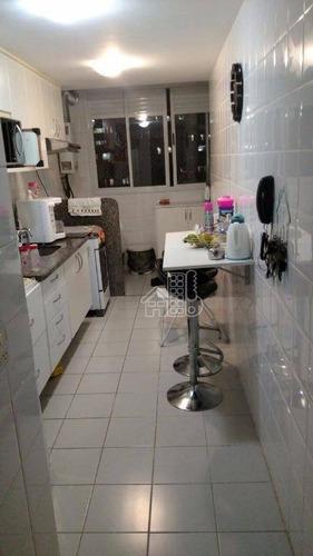 Apartamento Com 2 Dormitórios À Venda, 60 M² Por R$ 420.000,00 - Santa Rosa - Niterói/rj - Ap1031