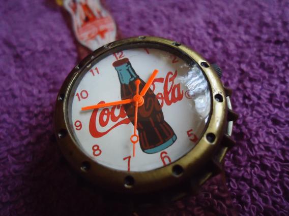 Coca Cola Reloj Vintage Retro Tipo Ficha Para Dama