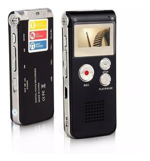Grabador Periodista Digital Voz Microfono Oculto 8gb