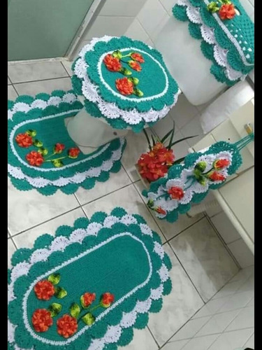 Imagem 1 de 1 de Faço Jogo De Banheiro E De Cozinha  Em Crochê