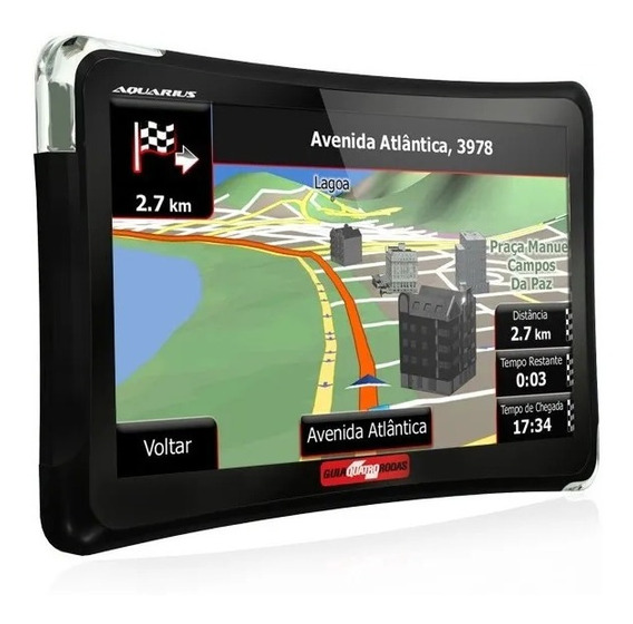 Gps Automotivo Aquarius Quatro Rodas 5 Polegad Tv Digital