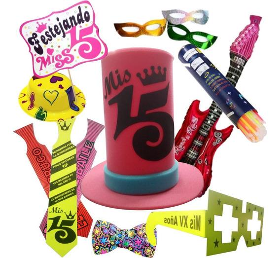 Paquete Fiesta Quince Años Xv Batucada Sombreros Antifaces