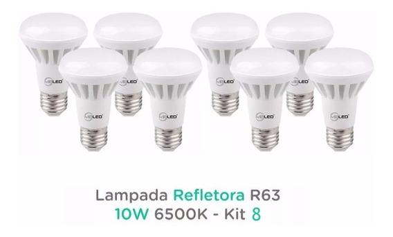 Lampada Led Refletora R63 10w 6500k - Kit 8