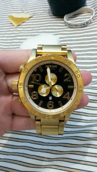 Relógio Nixon Dourado ! Rolo Suspensão Ah Rosca Corsa Sedan