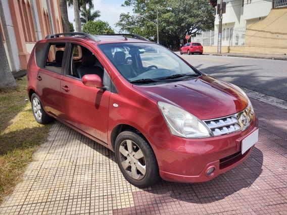 Livina 1.6 Sl Ano 2012 Completa Com Banco De Couro Doc Ok