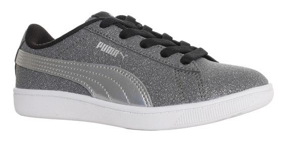 Zapatillas Puma Moda Vikky V2 Glitz Ac Ps Niña Go/pl