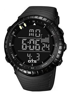 Ots Mens Deportes Casual Relojes Digitales Big Face Militar
