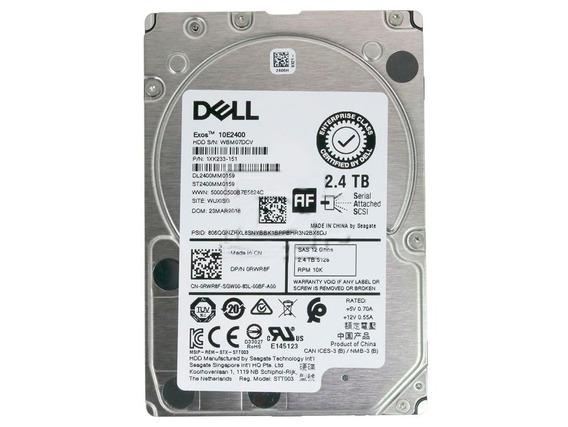 Hd Sas 2.4tb Dell Exos 10e2400 St2400mm0159 10k - Gaveta 3,5
