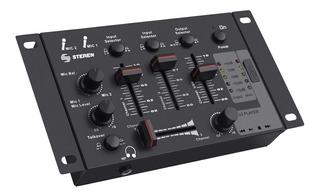 Mezcladora D 3 Canales Steren Mix-135 Lector D Memorias Usb