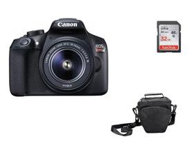 Kit Câmera Canon Rebel T6 C/ 18-55mm + 32gb + Bolsa