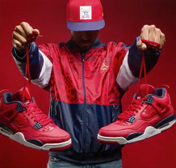 Nike Air Jordan Retro 4 Fiba Vuelta Town Sneakers