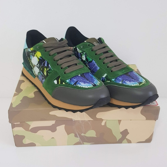 Sneaker Valentino Camouflage Rockrunner - Pronta Entrega 41