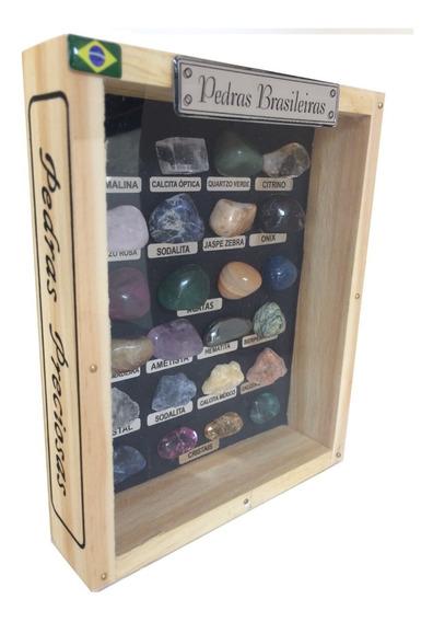 Coleção 26 Pedras Brutas Do Brasil Semi Preciosas Cristais