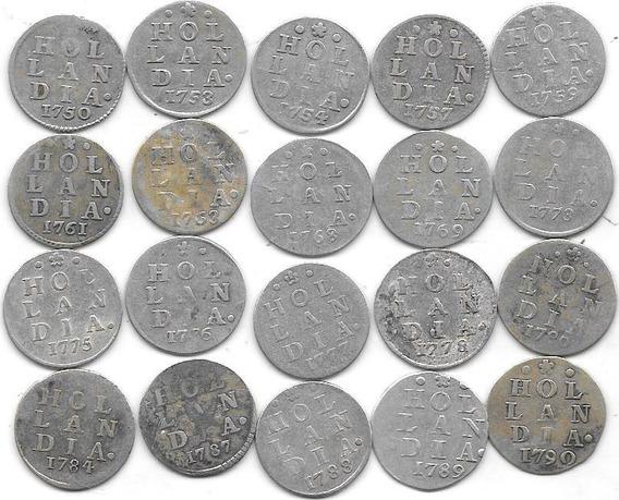 Moneda Holland 2 Stuivers Plata Año 1750 A 1790 Buena