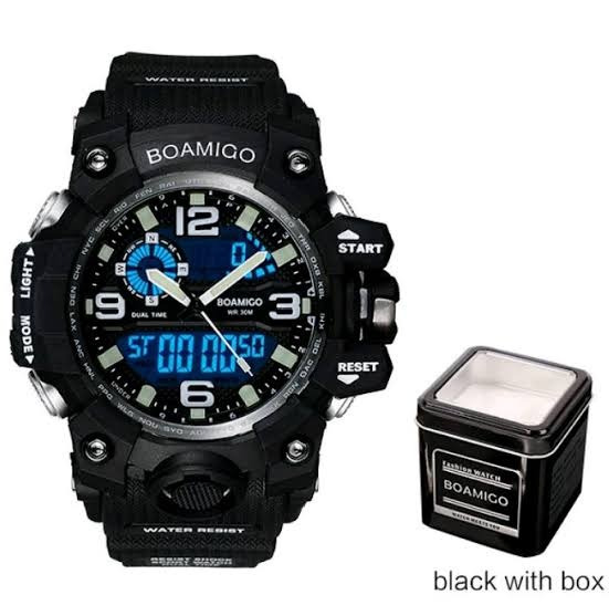 Relógio Masculino Esportivo Funcional C/lata Origina